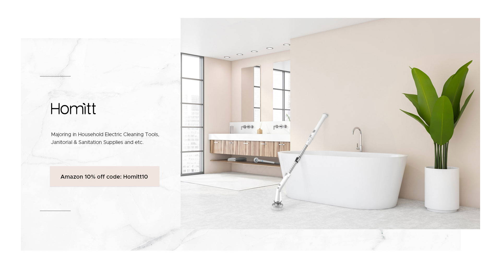 Homitt Cordless Shower Scrubber