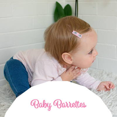 Baby barrettes - the perfect baby hair clips for babies who pull out their bows!
