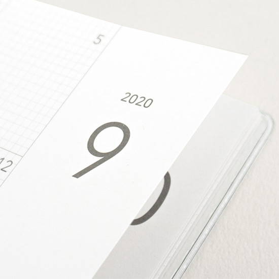 220gsm paper - Eedendesign 2020 Hello month A5 dated monthly planner