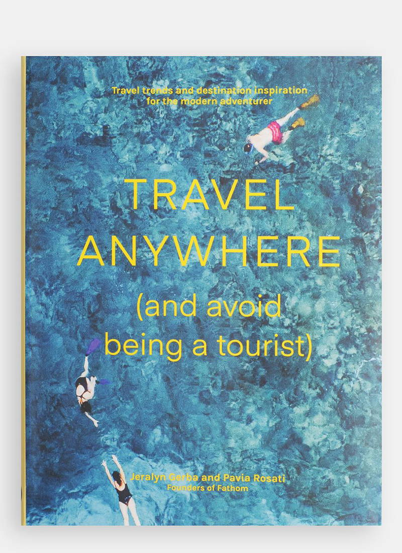 Product photography of the book 'Travel Anywhere: And Avoid Being a Tourist' at The Hambledon
