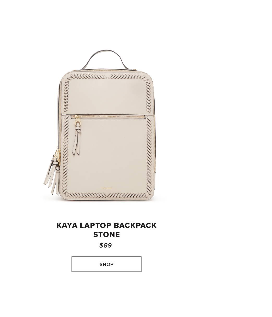 CALPAK KAYA LAPTOP BACKPACK - STONE