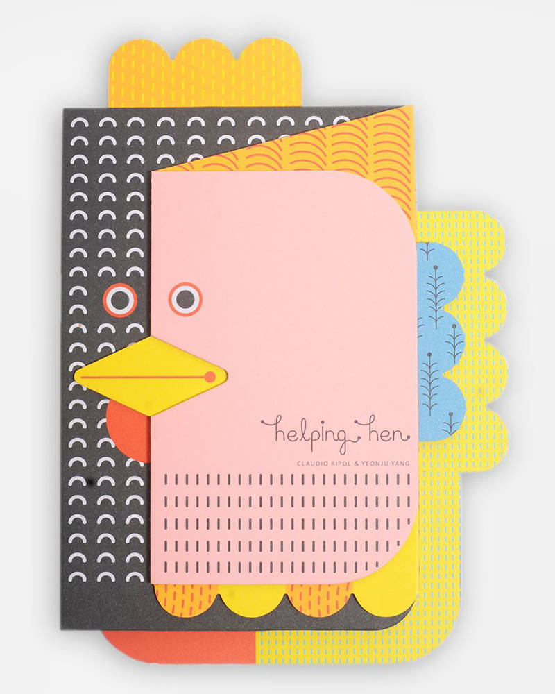 Product photography of Helping Hen book