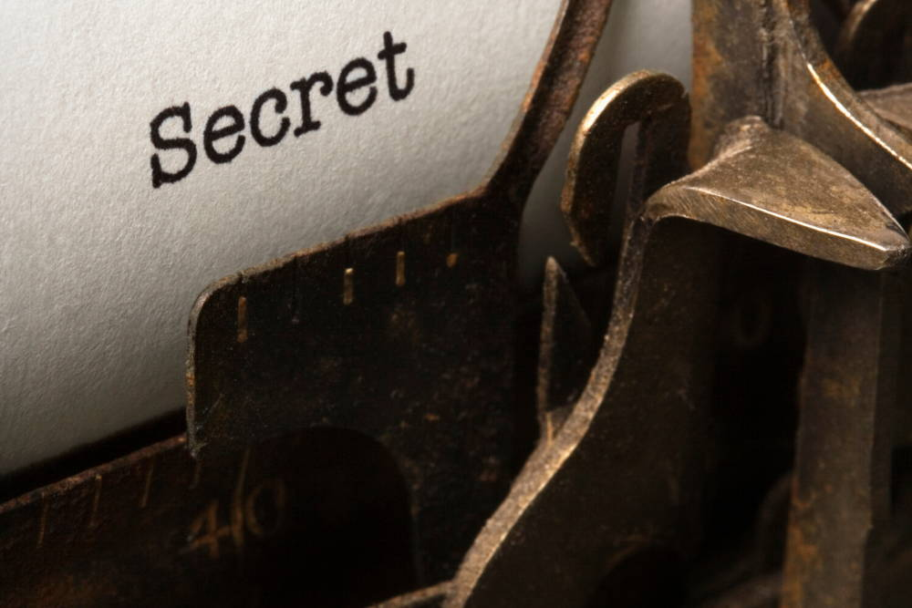 The word Secret on a typewriter|The Strangest Secret That's Been Around For Thousands Of Years