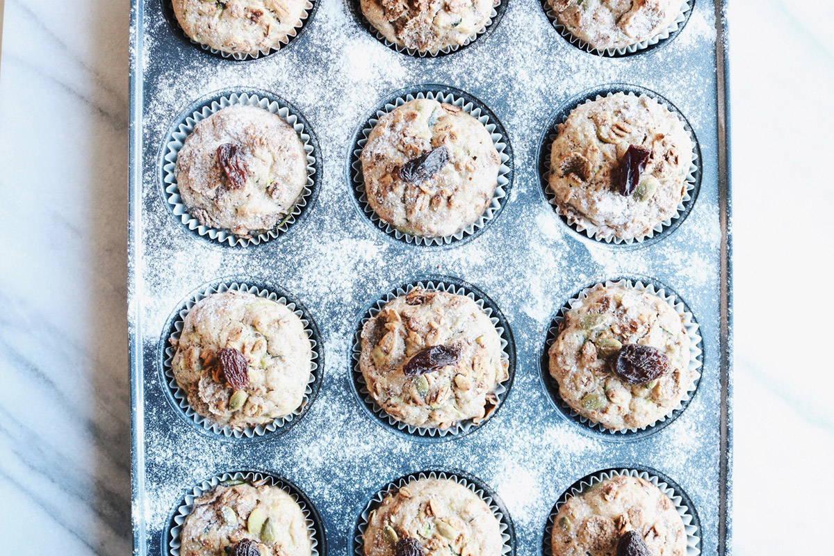 Muffins aux courgettes et à la chaï de la nutritionniste et Docteure en nutrition Isabelle Huot sur son blogue santé