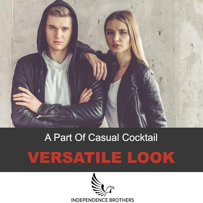 Leather jacket versatile look