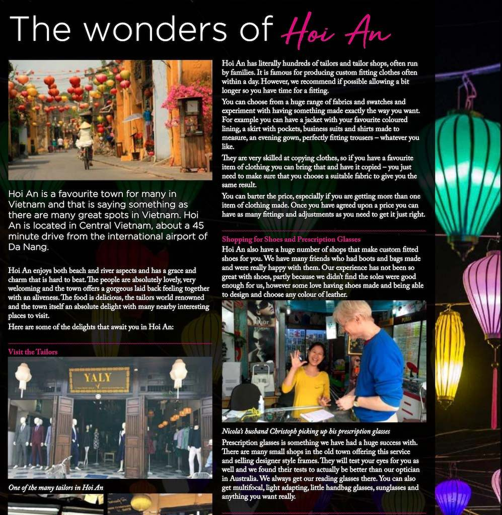 Travelbay in the Media - Bowling & Lifestyle Magazine - The Wonders of Hoi An