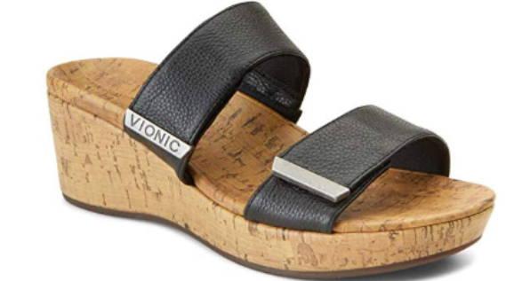 Vionic Atlantic Pepper Adjustable Platform Wedge Sandal