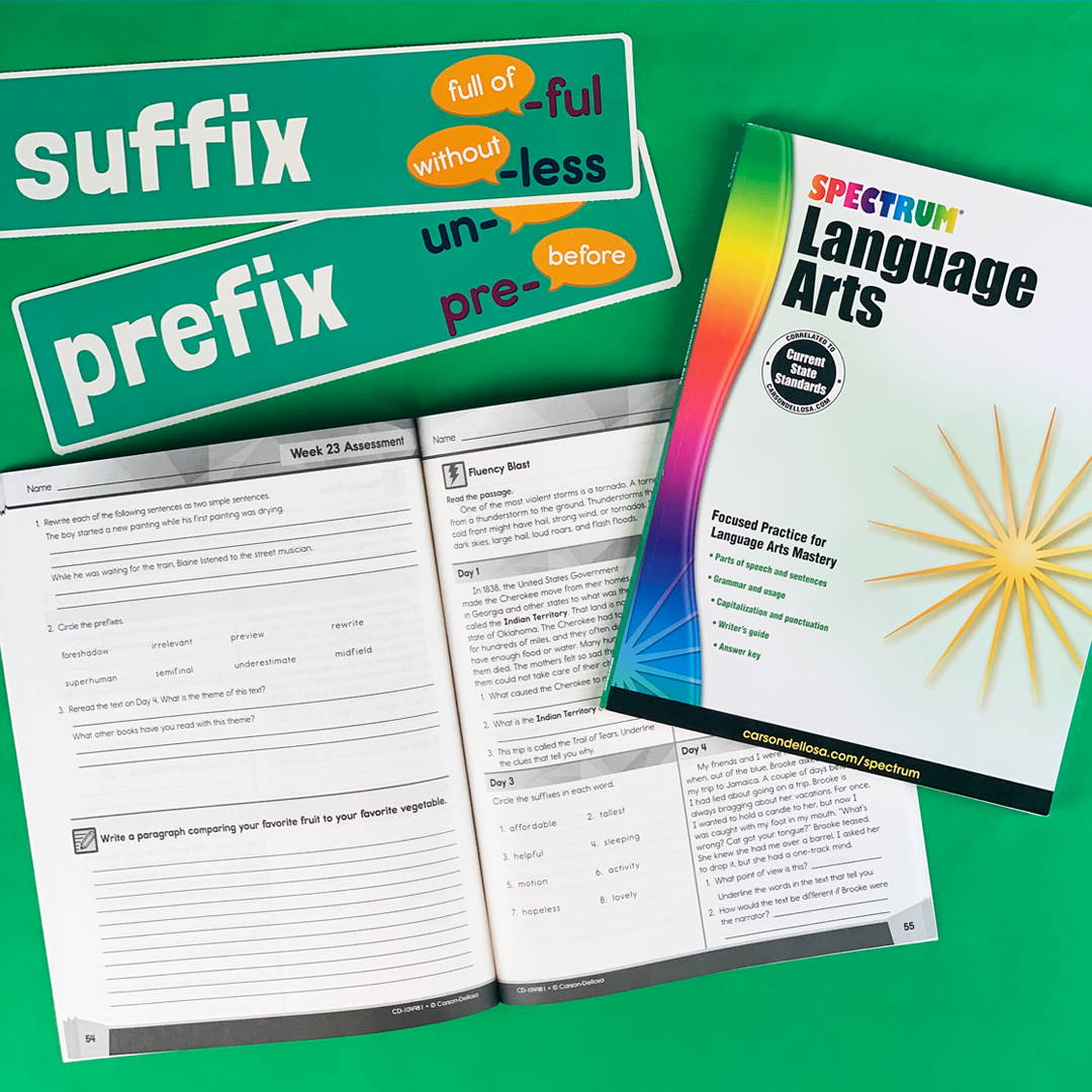 Language Arts Book and Word Wall