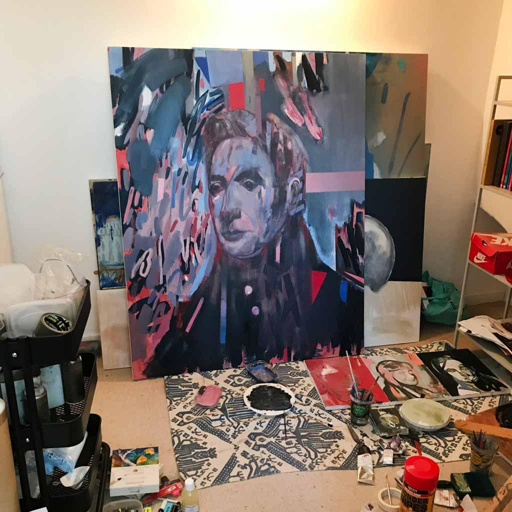 Work in progress in Dan Cimmermann's studio