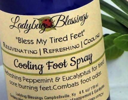 foot care, cooling foot spray, cooling foot mist, peppermint foot care, foot spray