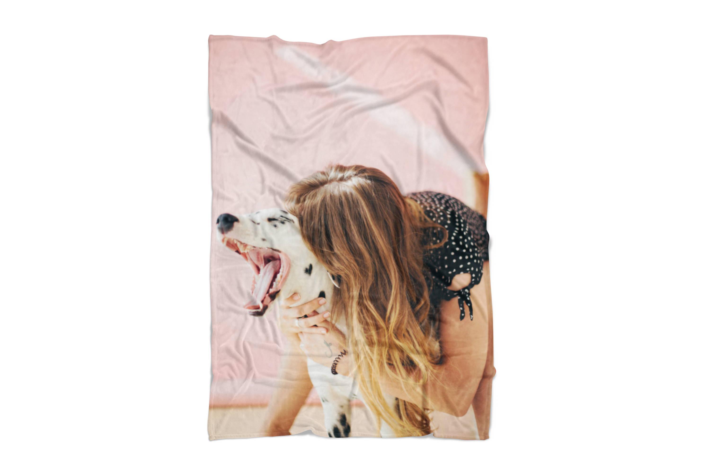 Dog Photo on Blanket