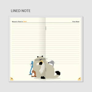 Lined note - Chachap 2020 Hello mouse dated monthly planner scheduler
