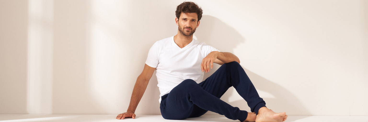 Truly Mens Cashmere Joggers and Tshirt Banner