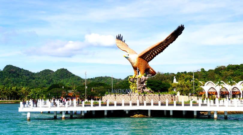 Man made eagle poised to take flight