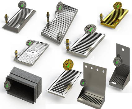 Draft Beer Drip Trays from ACU Precision Sheet Metal