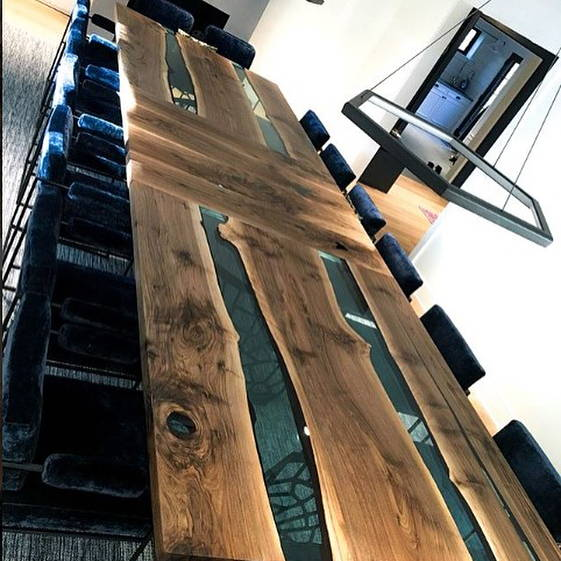 Custom Extendable Dining Table Created for a Client in the Hamptons, NY