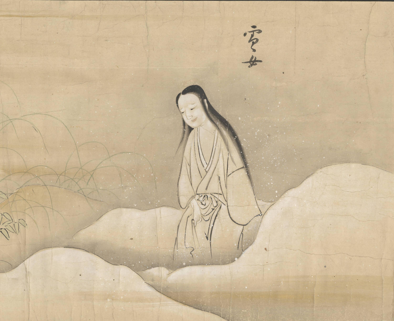 Yuki-onna Japanese painting