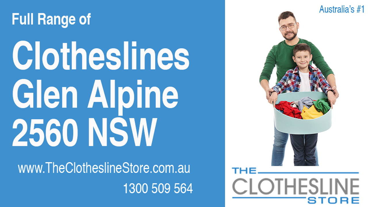 New Clotheslines in Glen Alpine 2560 NSW