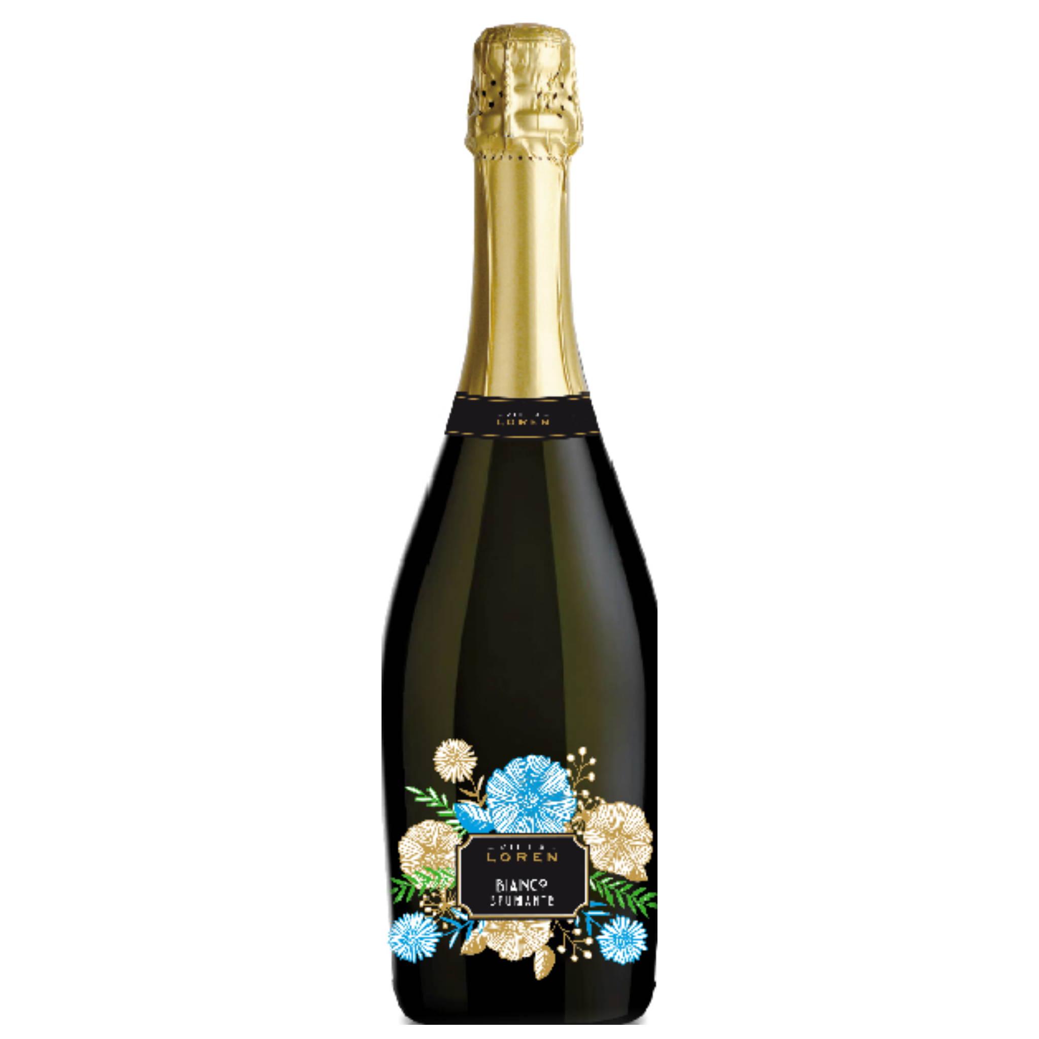 Villa Loren Bianco Spumante Italian Sparkling Wine distributed by Beviamo International in Houston TX