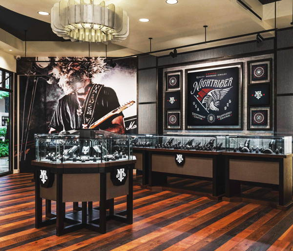 The Rock and Roll Interior of the NightRider Honolulu Store in Waikiki