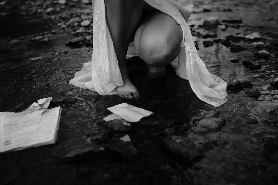 black & white photography with tilt-shift lens