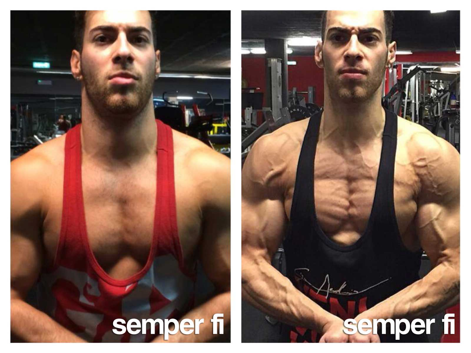 semper fi body concept Body Composition Online Coaching Kunde Antonio