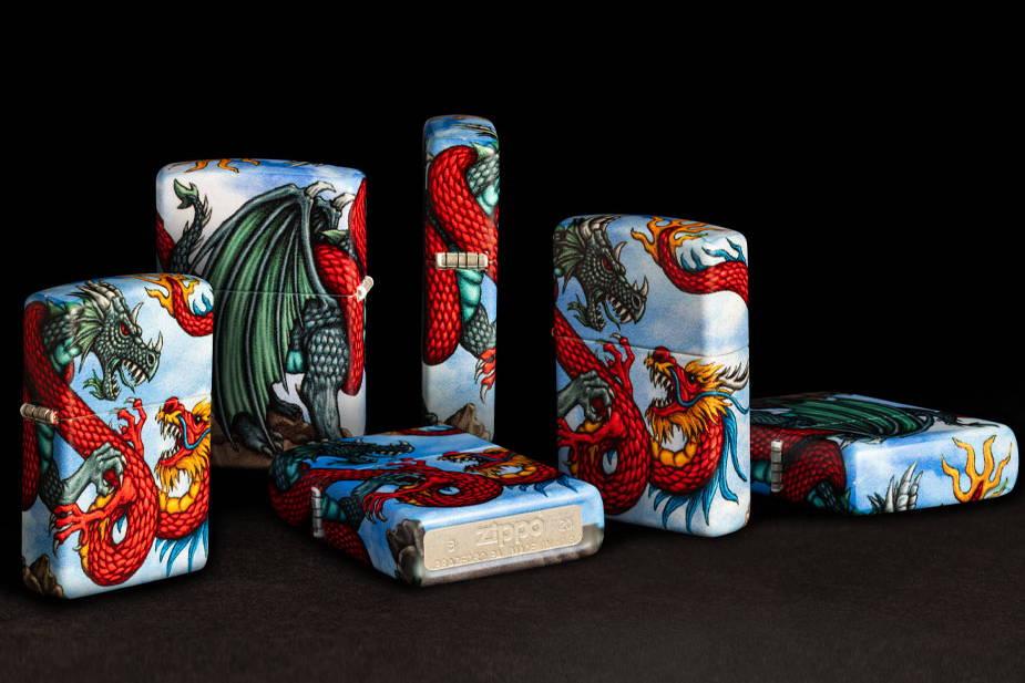 Dragon 540 Color Design shown at multiple angles against black background