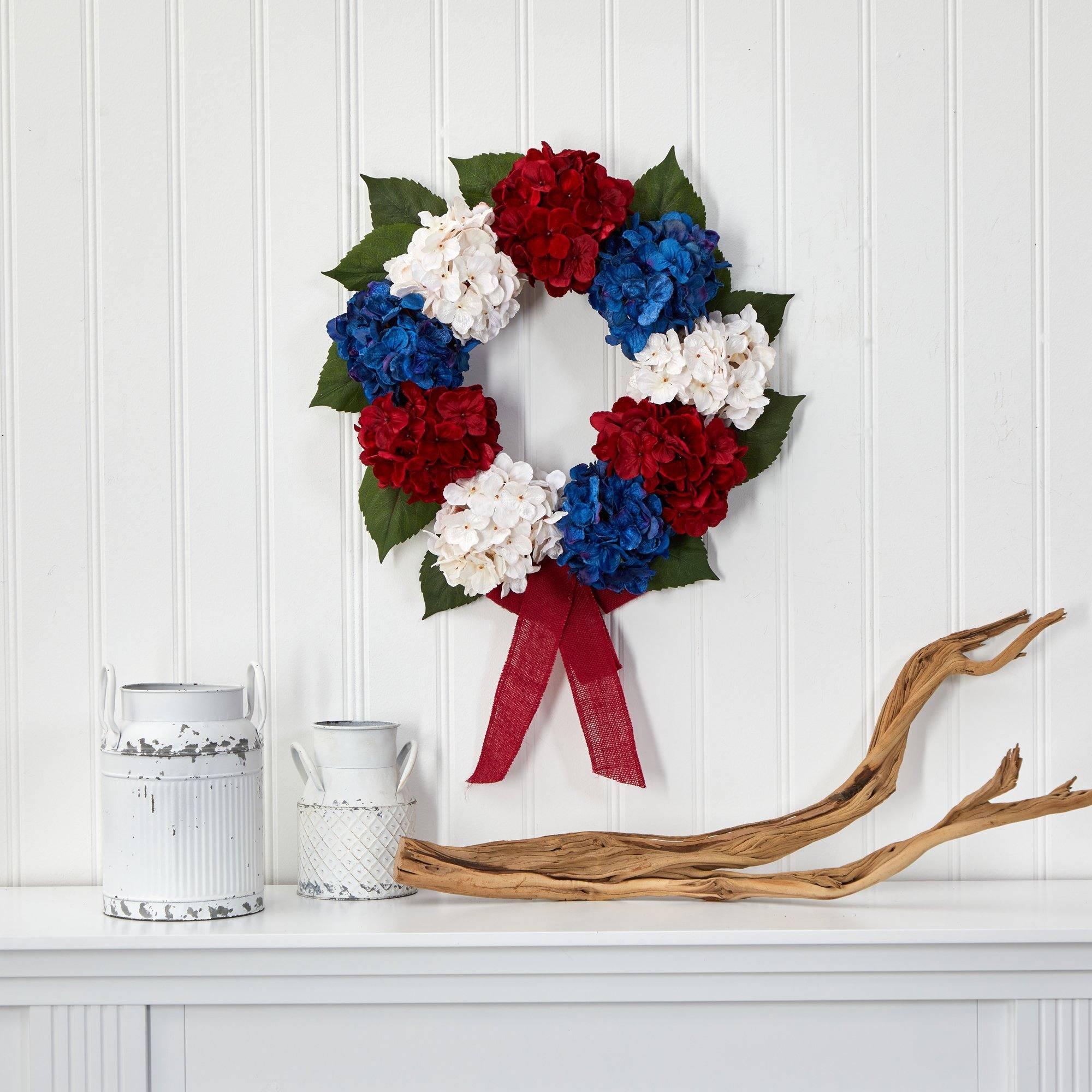 A 4th of July wreath