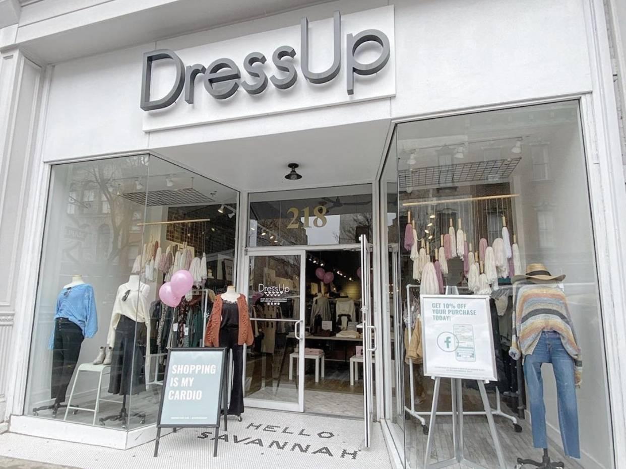Dress Up Savannah GA storefront