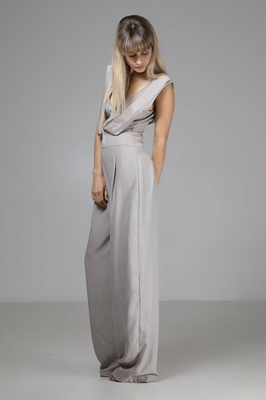 Sustainable Tencel Grey Mila Jumpsuit - Indecisive | Ecoture
