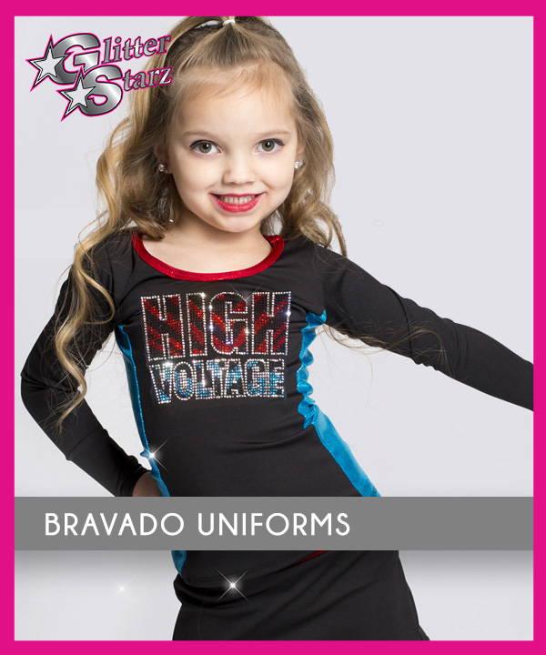 bravado uniforms for mini tinies prep half year cheer