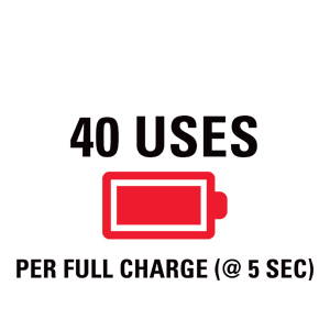 40 uses per charge