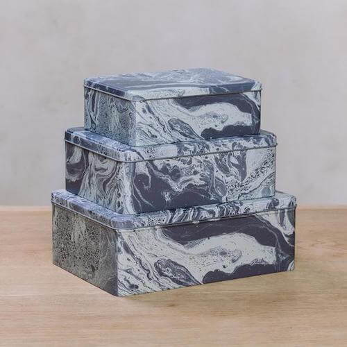 Ferm Living Marble Tin Boxes