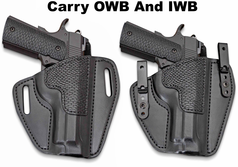 """formed BROWN leather owb 357  3/"""" barrel FITS: RUGER SP101 belt slot holster"""