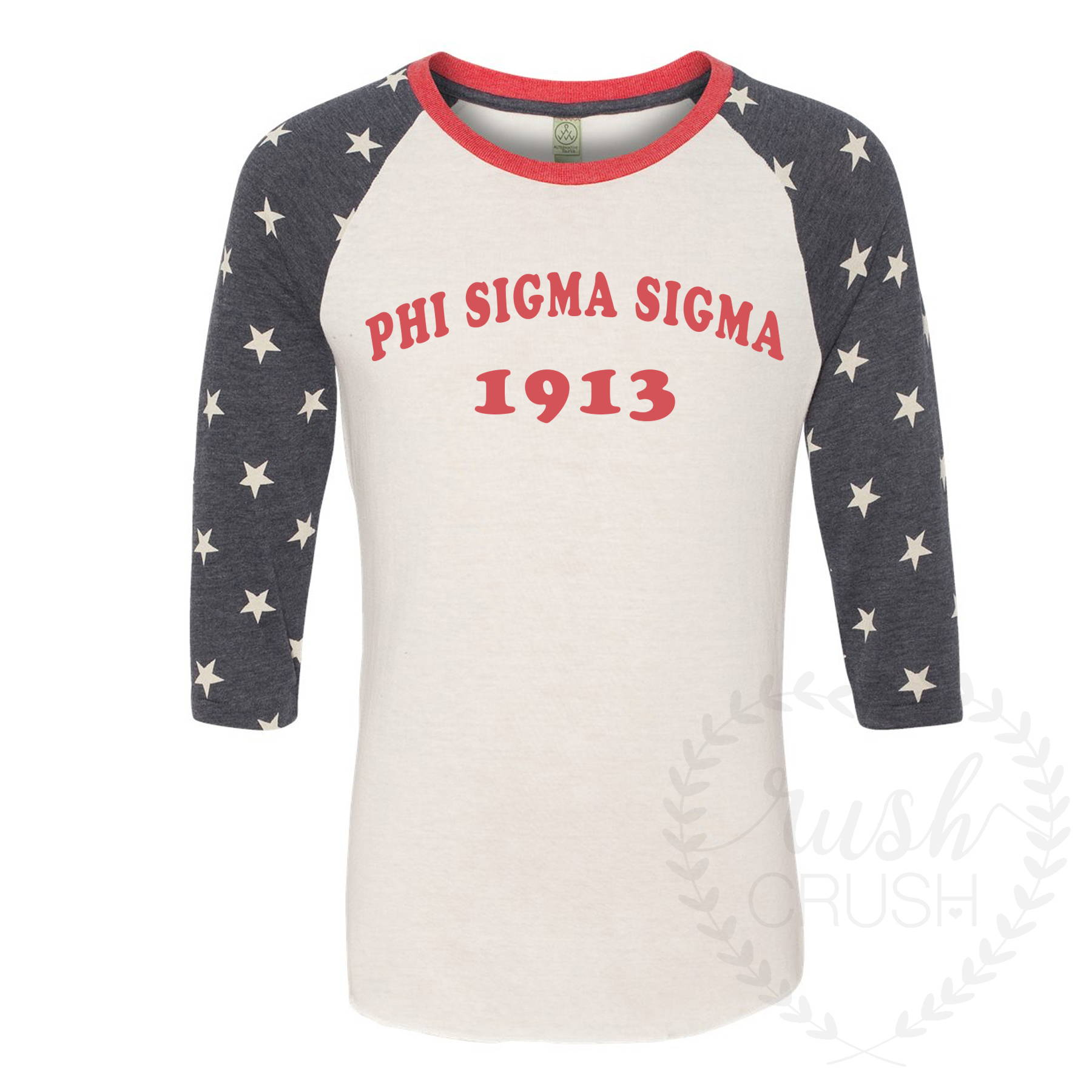 https://shoprushcrush.com/collections/phi-sigma-sigma/products/phi-sigma-sigma-1913-reach-for-the-stars-3-4-sleeve-tee