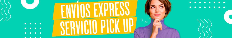 Banner mostrando el titulo Envios Express y Servicio Pickup