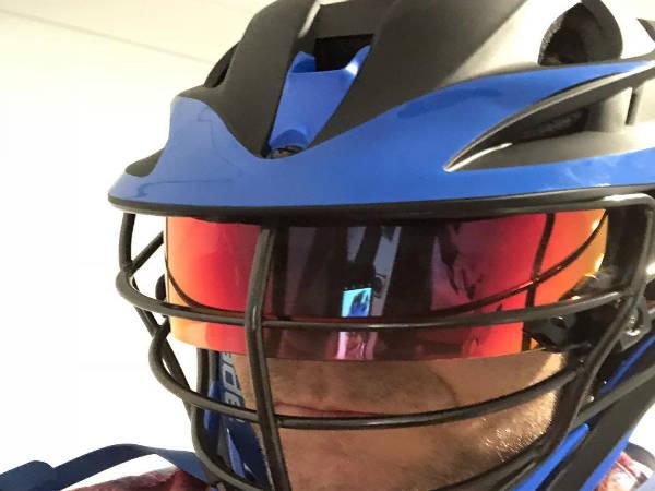 SHOC 3.0 Thunder Lacrosse Visor Tigers Blood