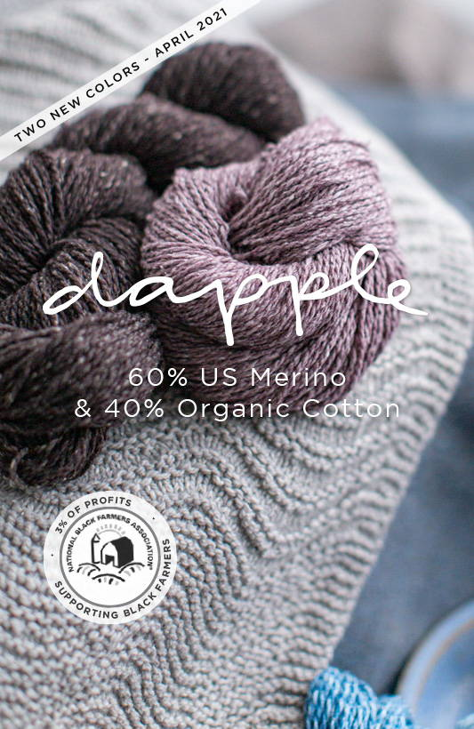 Dapple Yarn | 60% US Merino & 40% Organic Cotton