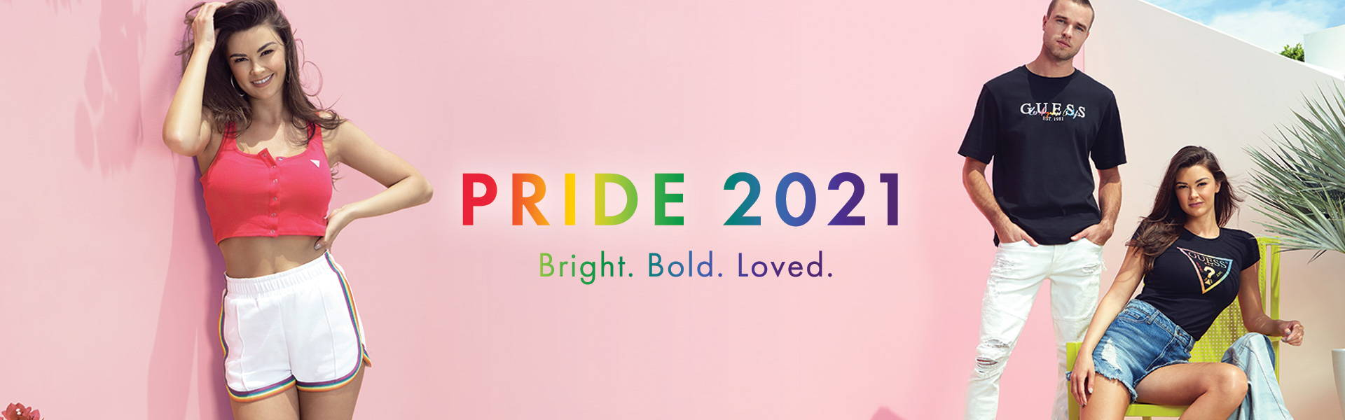 GUESS Pride inspired collection for mens & women 2021