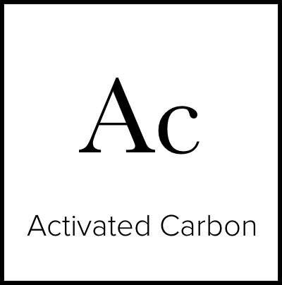 """A square that is meant to look like an element from the Periodic Table of Elements. It says """"Ac Activated Carbon."""""""