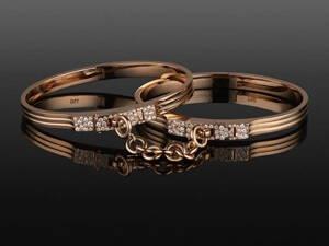 Original Oath double cuffs rose gold
