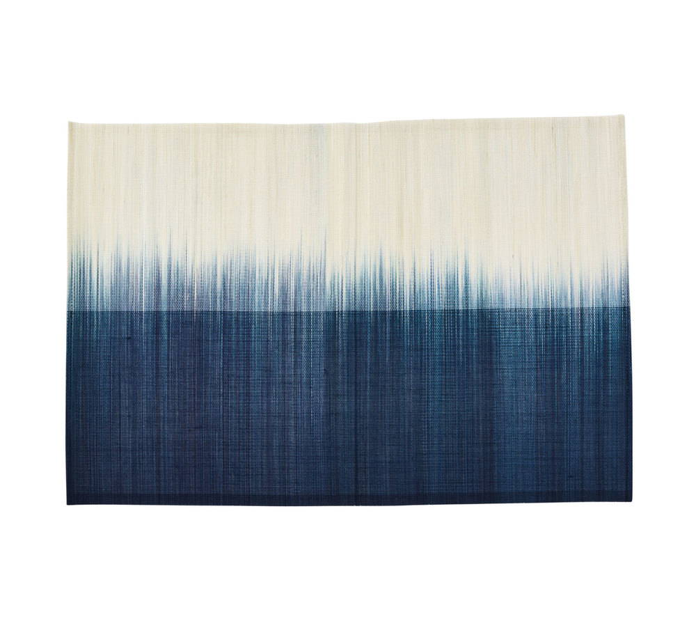 OMBRE PLACEMAT IN IVORY & NAVY S/4