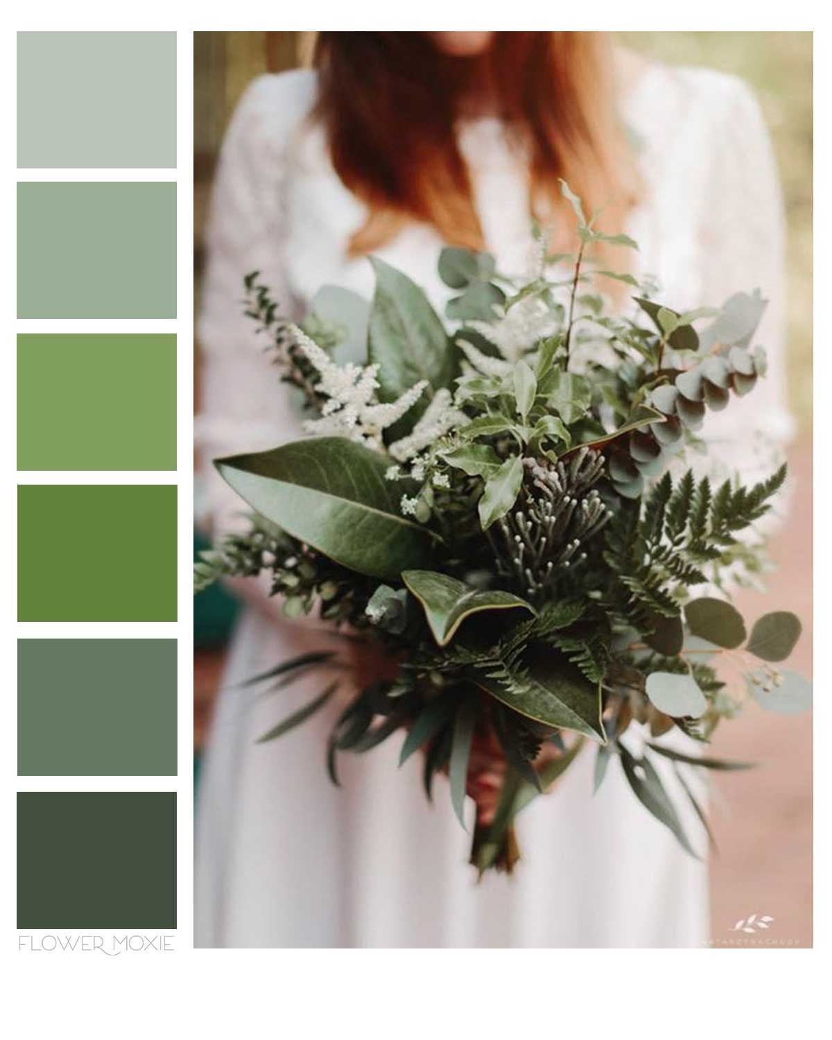 greenery only wedding flower packages
