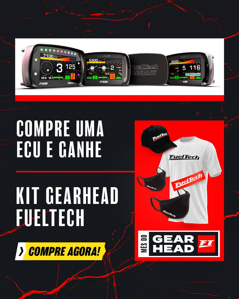 Compre uma ECU e ganha um kit gearhead exclusivo fueltech