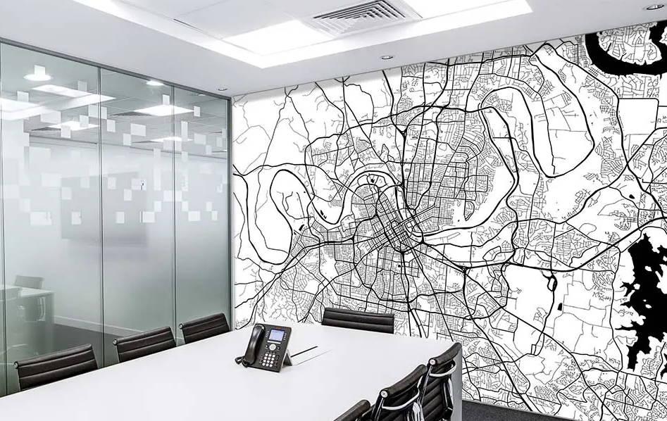 custom wallpaper map