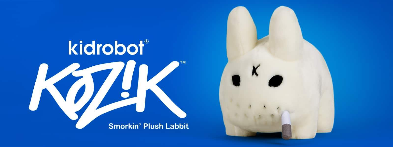 Labbit Smorkin Stuffed Animal Plush  by Frank Kozik x Kidrobot