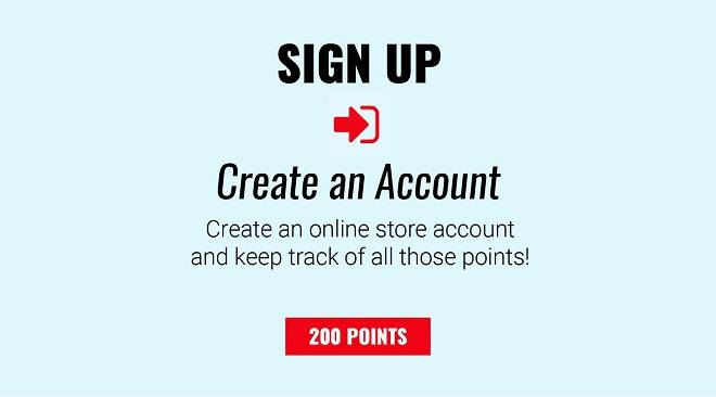 Sign Up - 200 Points