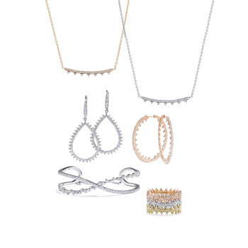 image of jewelry sets in rose gold and silver