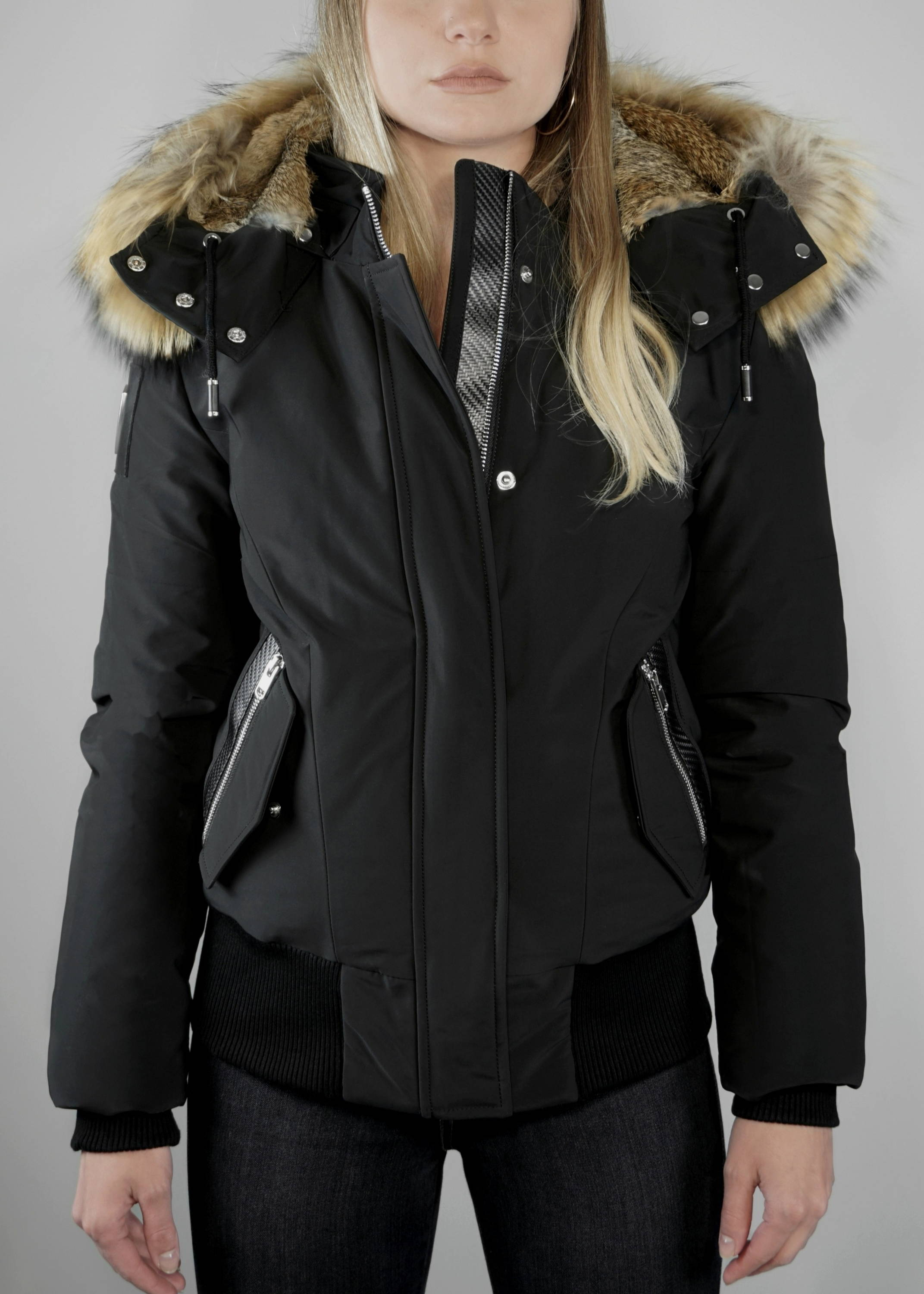 Carbonesque womens lodestone goose down bomber