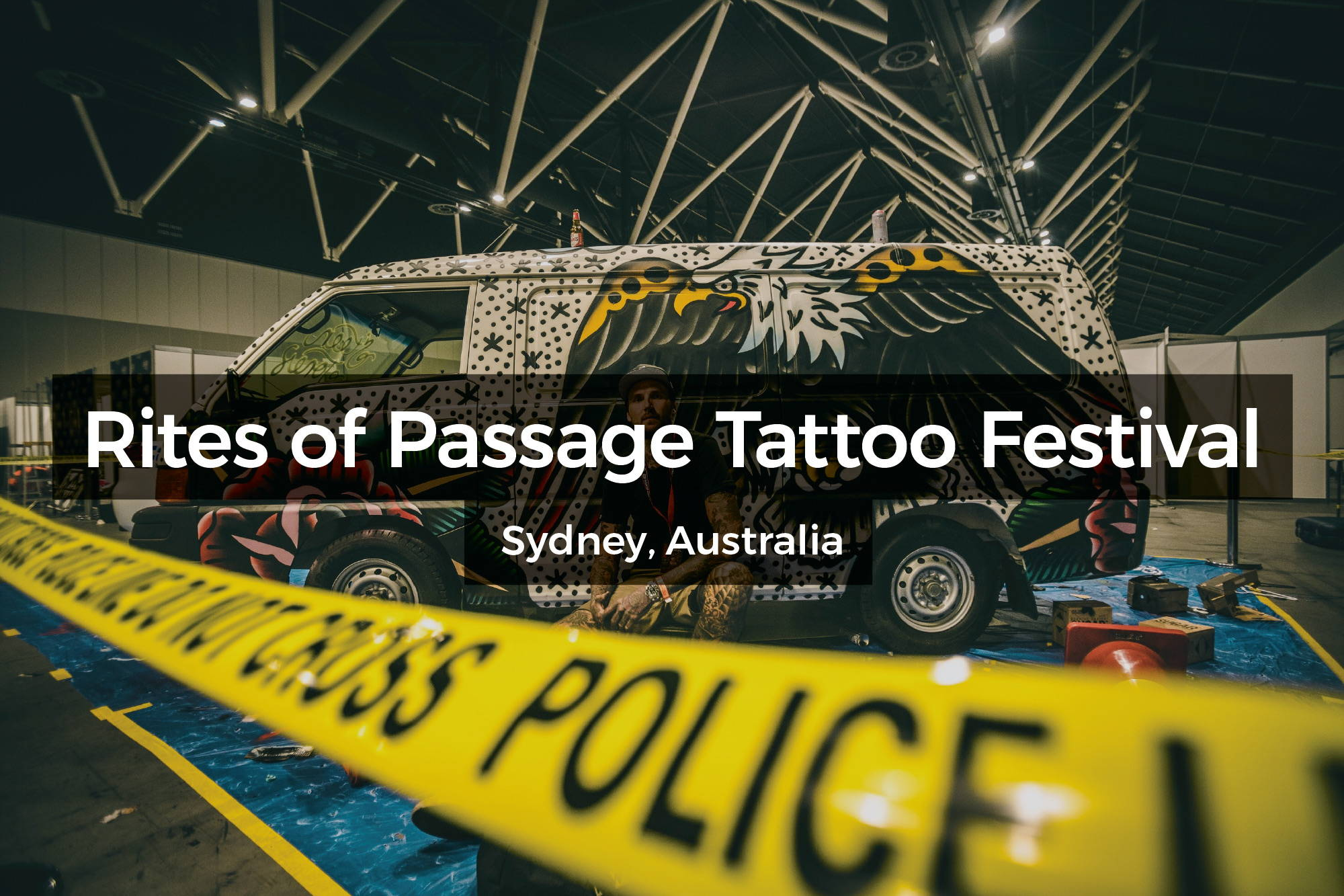 Live painting at Rites of Passage Tattoo Festival in Sydney, Australia